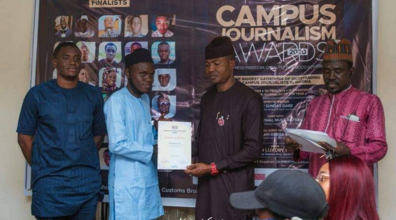 ABU student honoured at campus journalism awards 2020 3