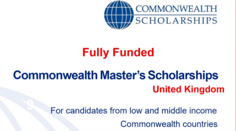 Fully Funded Commonwealth Master's Scholarships 2021-2022 1