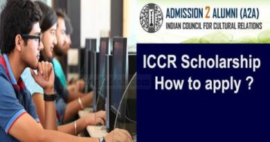 Call for Applications: Indian Council For Cultural Relations (ICCR) Scholarship 2021/2022