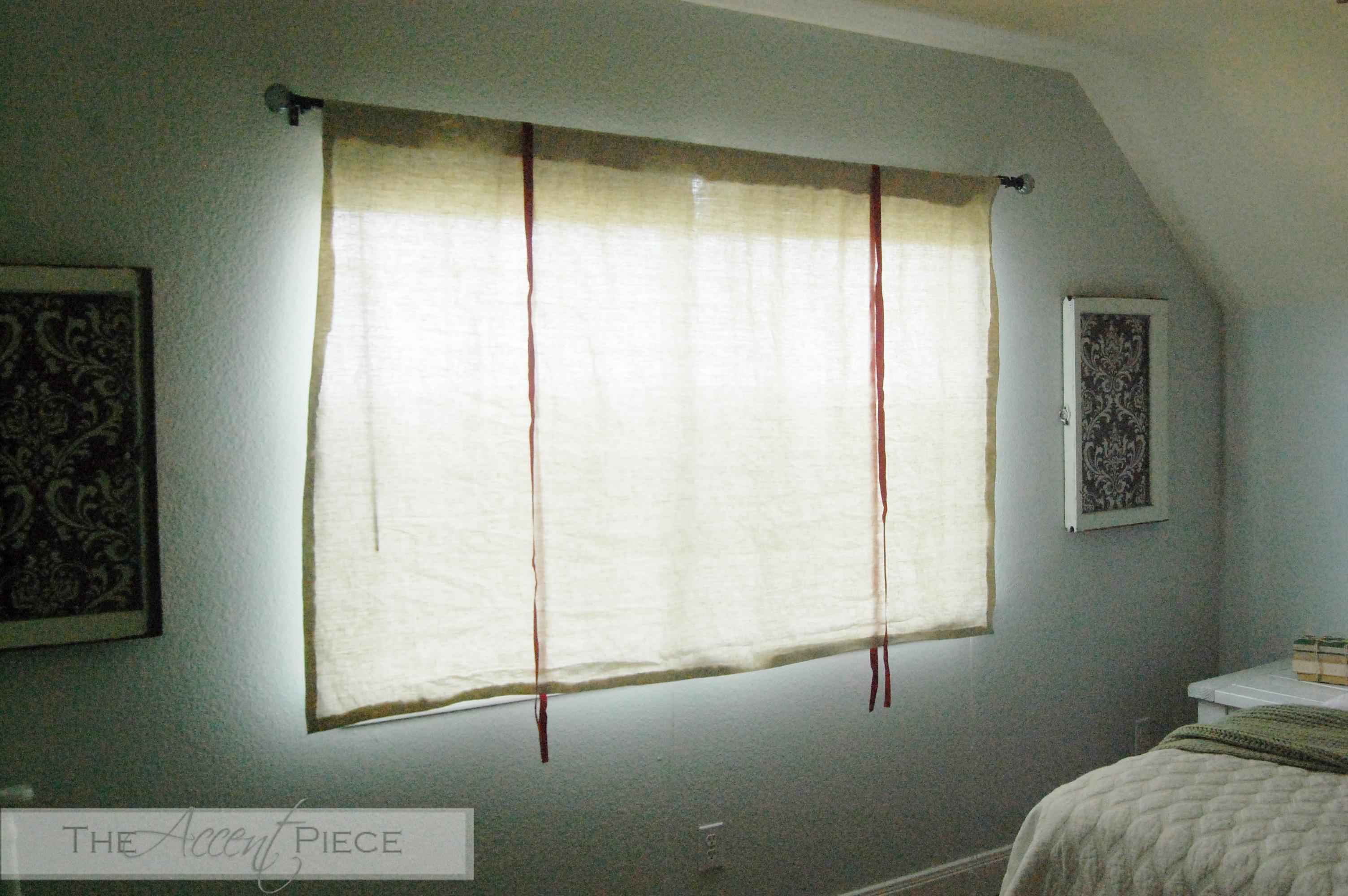 DIY No Sew Tie Up Curtains