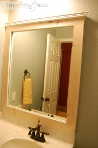 DIY Framed Bathroom Mirror | The Accent Piece