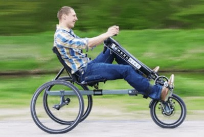 Paraplegic fitness legs and arms Berkel Bike