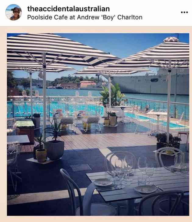 Andrew Boy Charlton pool cafe