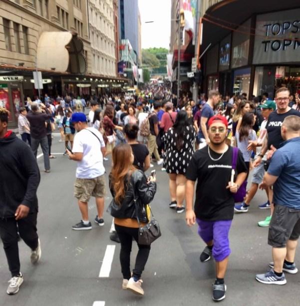 Boxing day crowds Sydney
