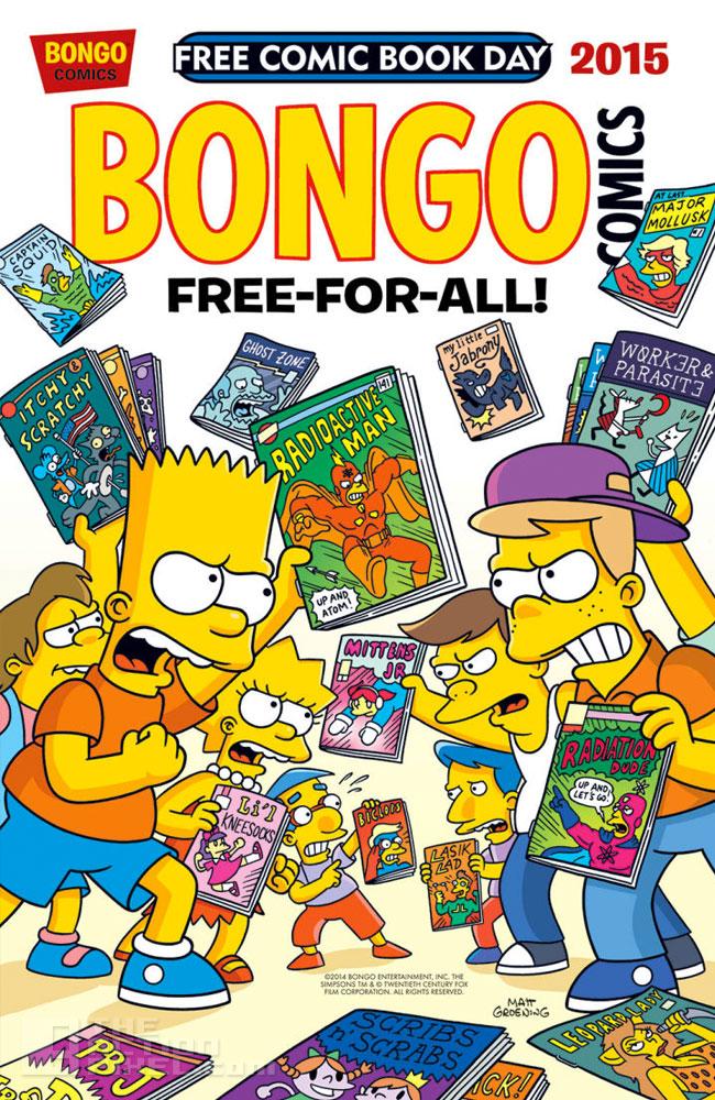 bongo comics / simpsons. The Action Pixel. @TheActionPixel