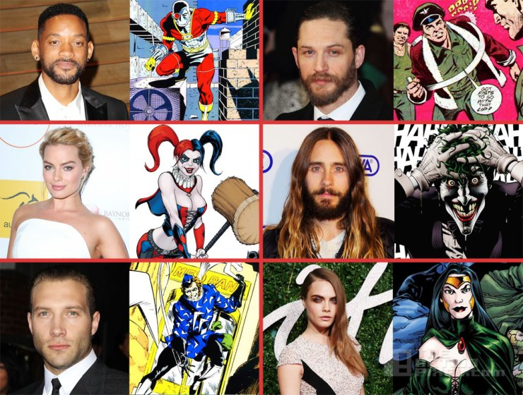suicide SquadCast including will smith as dead shot, tom hardy as rick Flagg. The Action Pixel. @TheActionPixel