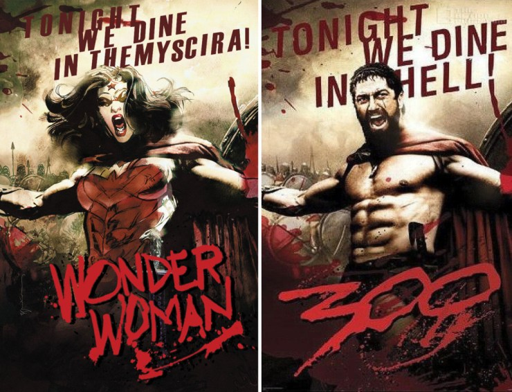 wonder woman - 300 variant cover. Dc comics. The action pixel. @TheActionPixel