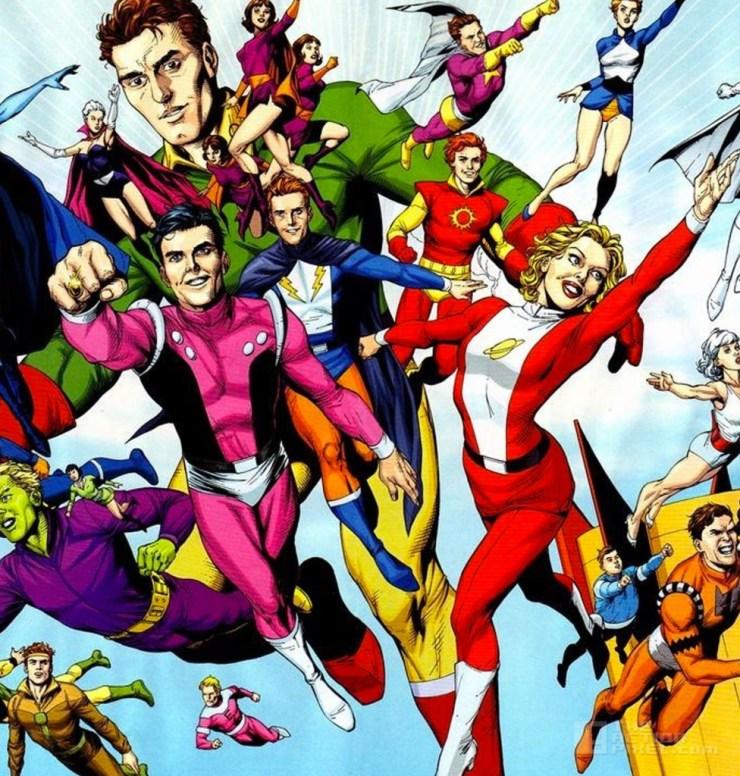 legion Of super-heroes. dc comics, the action pixel @theactionpixel