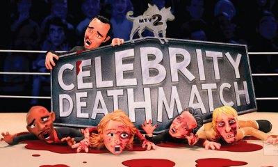 celebrity deathmatch. mtv2 the action pixel @theactionpixel