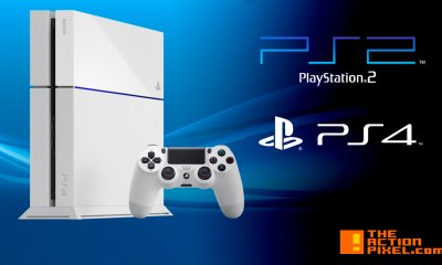 sony playstation 2. playstation 4. the action pixel. @theactionpixel