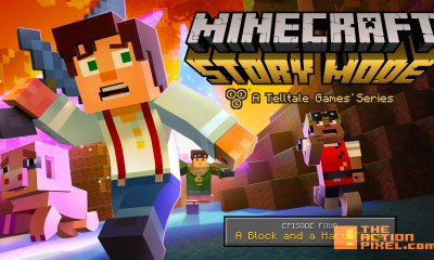 minecraft storymode Episode 4. A block and a hard place. the action pixel. @theactionpixel