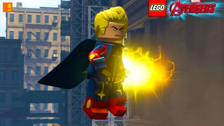 quasar. marvel lego avengers. the action pixel. @theactionpixel