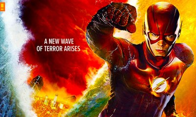the flash king shark poster. the cw network. dc comics. entertainment on tap. the action pixel. @theactionpixel