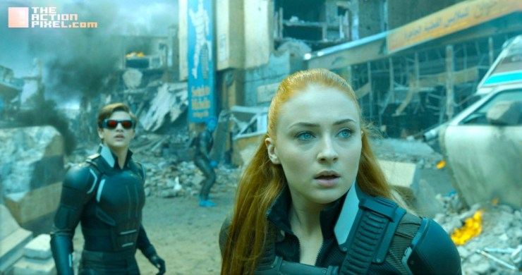 xmen apocalypse Tye Sheridan as Cyclops and Sophie Turner as Jean Grey
