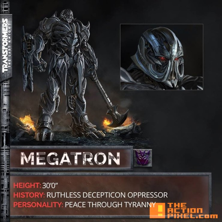 megatron, transformers,transformers, The last knight, entertainment on tap, the action pixel