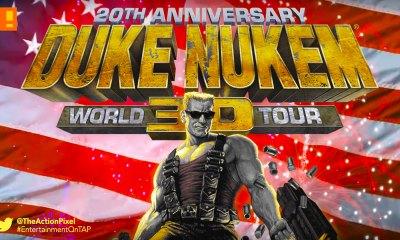 duke nukem, 20th anniversary, word tour, duke nukem 3d, gearbox software, entertainment on tap,