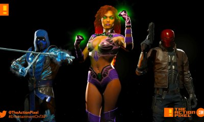 starfire,sub-zero, sub zero,red hood, injustice 2, the action pixel entertainment on tap, injustice, dc comics, dc characters, netherrealm studios, wb games,