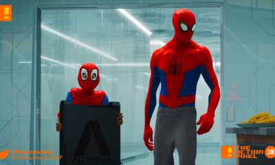 miles morales, spiderman, spider man, spider-man, sony, marvel, marvel comics, animated feature, animation, the action pixel, entertainment on tap,sony animation, marvel,into the spiderverse, spider-man: into the spider-verse,gwen stacey, clip, another dimension, sony animation