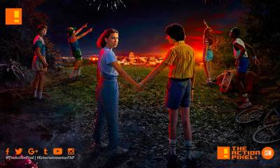 stranger things , stranger things 3, poster, netflix, entertainment on tap, the action pixel, 1980, 1985, stranger things 3 poster, stranger things poster