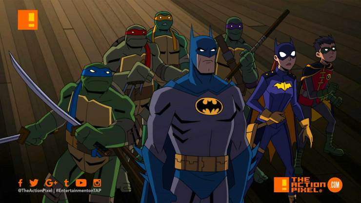 batman, animation, nickelodeon, dc comics, warner bros animation, tmnt, teenage mutant ninja turtles, gotham, Leonardo, Michelangelo, Raphael, and Donatello. Leonardo , bruce wayne ,gotham, dc comics crossover event