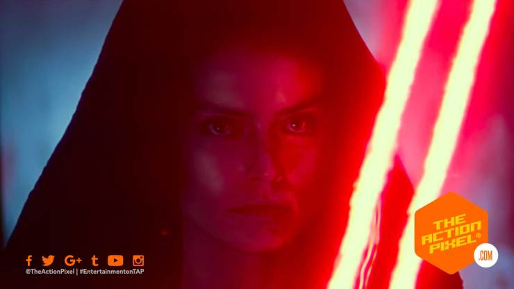 dark rey, the rise of skywalker, star wars, star wars: the rise of skywalker, star wars the rise of skywalker, the rise of skywalker poster, star wars poster, rey, kylo, palpatine, d23 expo, emperor palpatine, special look video, d23 expo