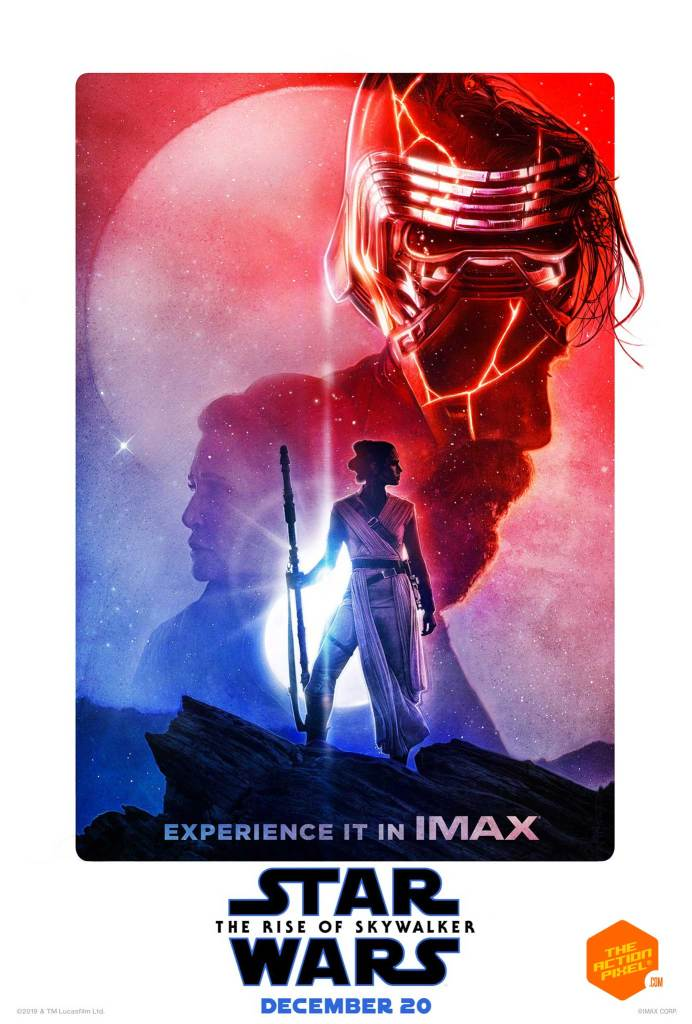 star wars, the action pixel, entertainment on tap, disney, lucasfilm, the rise of skywalker, the rise of skywalker, star wars, star wars: the rise of skywalker, star wars the rise of skywalker, the rise of skywalker poster, star wars poster, rey, kylo, palpatine, d23 expo, emperor palpatine, final trailer,teaser, featured,the rise of skywalker clip, the rise of skywalker duel, lightsaber, poster art, imax star wars the rise of skywalker,