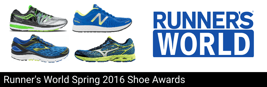 Runners World Spring 2016 Shoe Awards