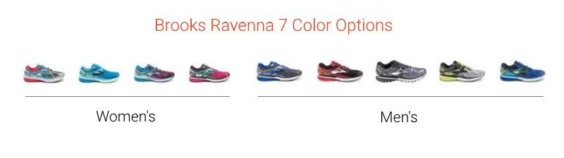 Brooks Ravenna 7 Colors