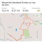 2018 Cleveland Marathon Training Post 7