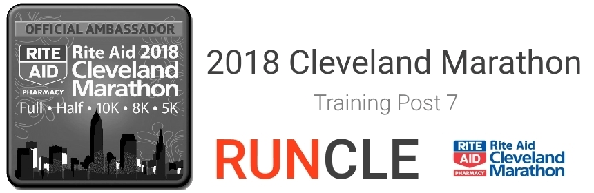 2018 Cleveland Marathon Training Post 7