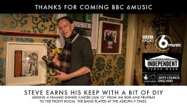BBC 6 Music visited us to do some DIY!
