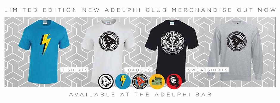 ec333d32 Adelphi merchandise is limited edition and regularly includes new designs. T 'shirts are limited to 50 prints per design and come beautifully packaged  in a ...