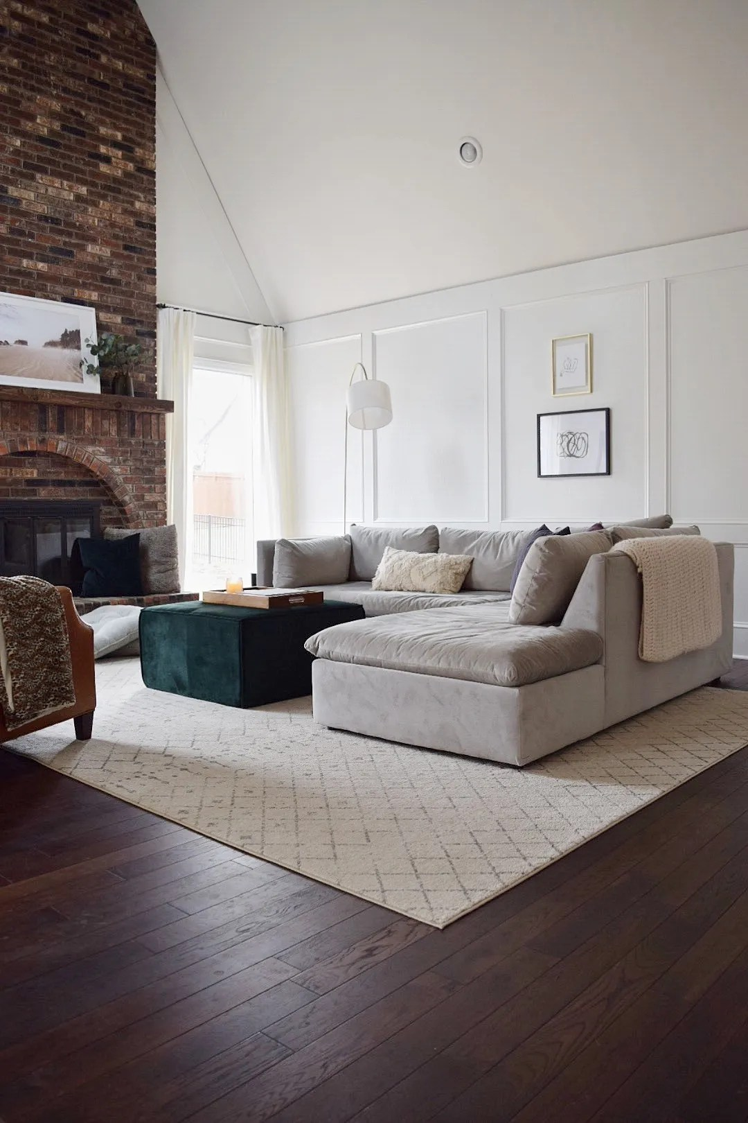 How It S Holding Up Our West Elm Sectional The Adored Abode