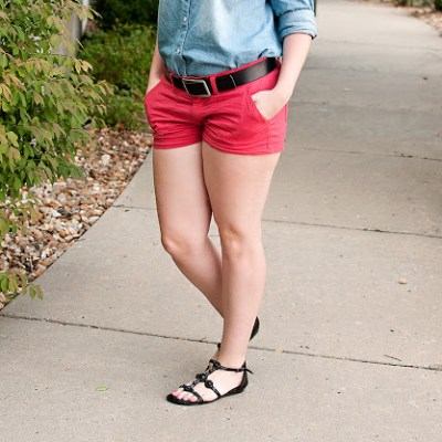 Chambray+Coral= instant comfort