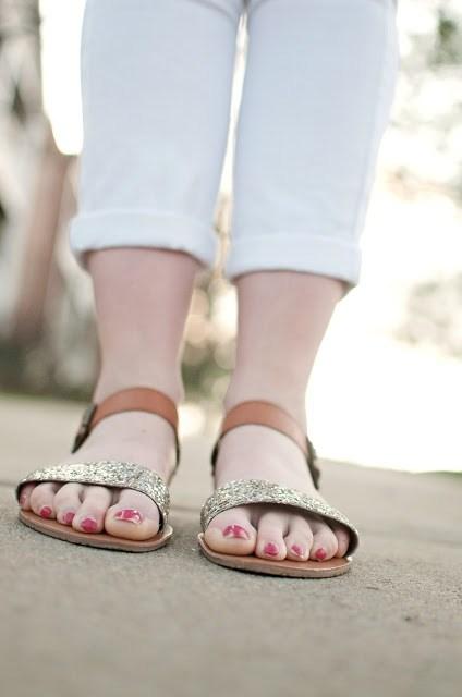 Target Glitter Sandals