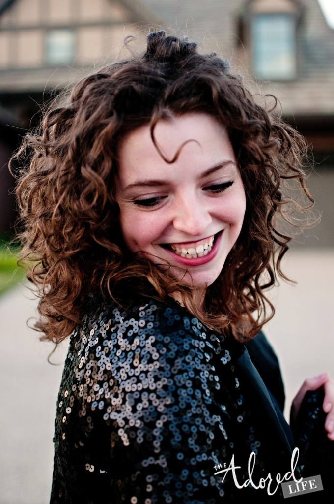 Sequin Jacket + Naturally Curly Hair