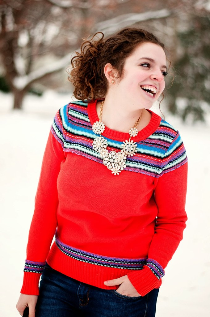 Hunter Boots and Fair Isle Sweater with Statement Necklace