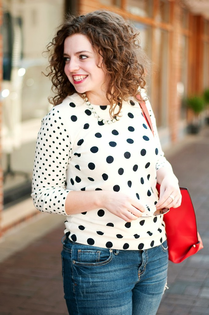 J. Crew Polka dot sweater