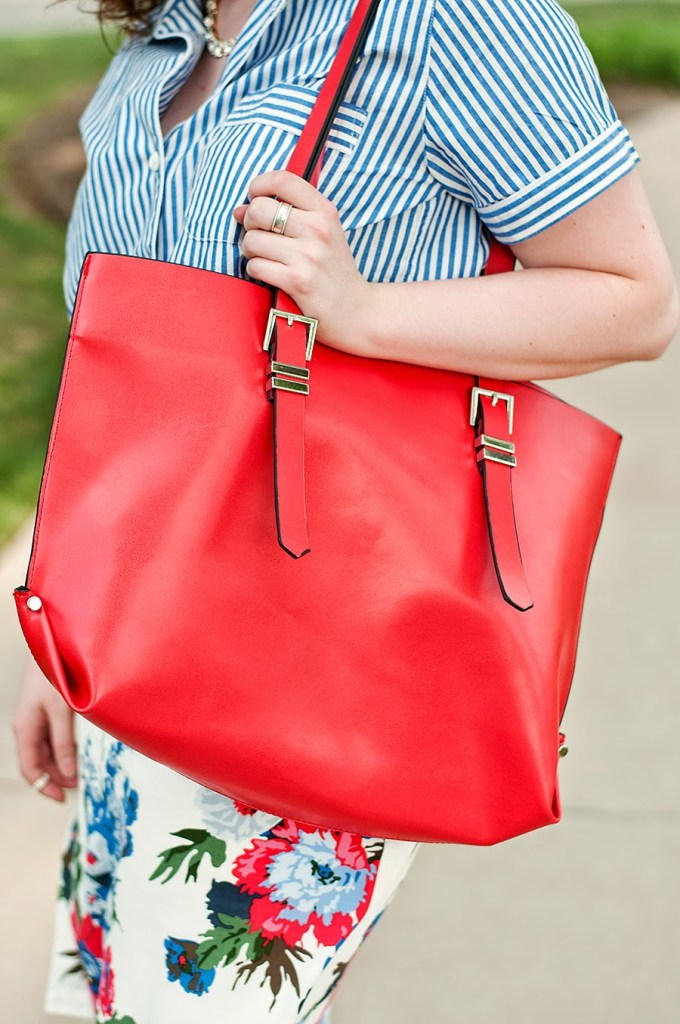 Zara Red Shopper Bag