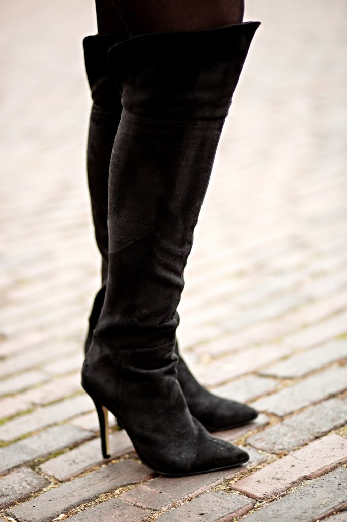 Black Over The Knee Boots // The Adored Life