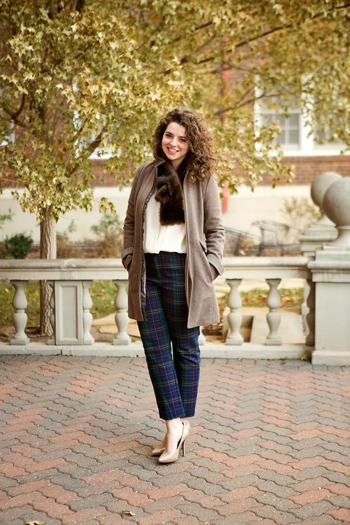 Classic coat with plaid pants // theadoredlife.com