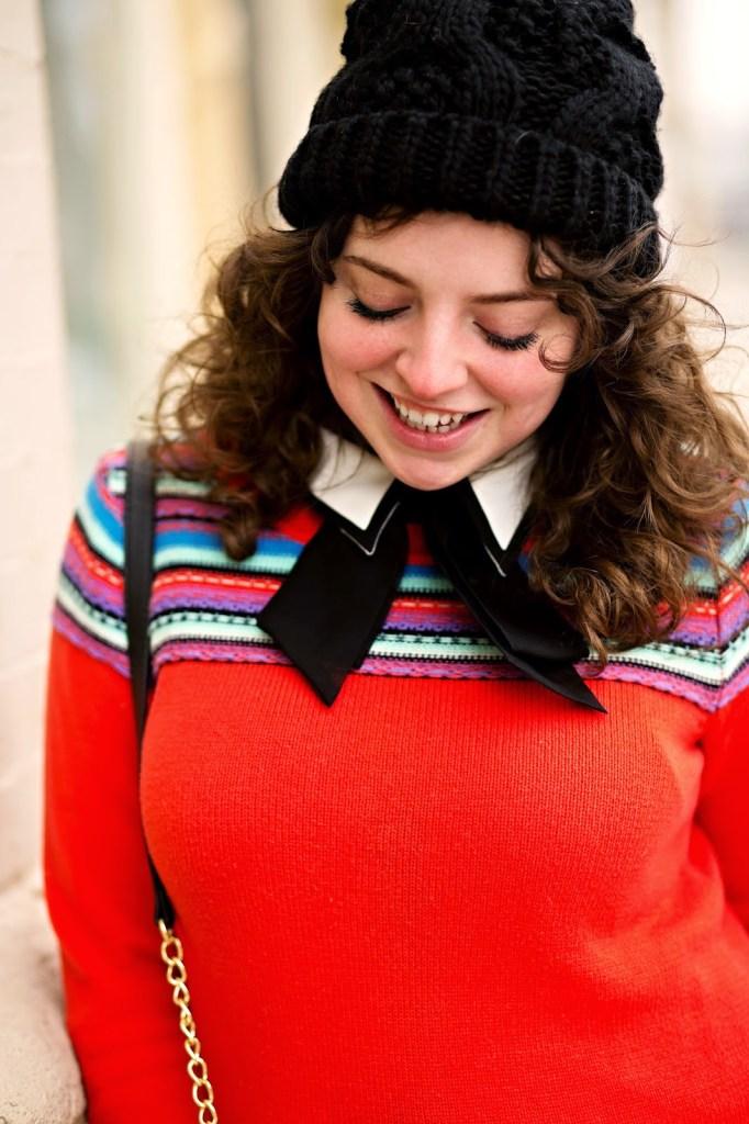Winter Fair Aisle Outfit With a Beanie