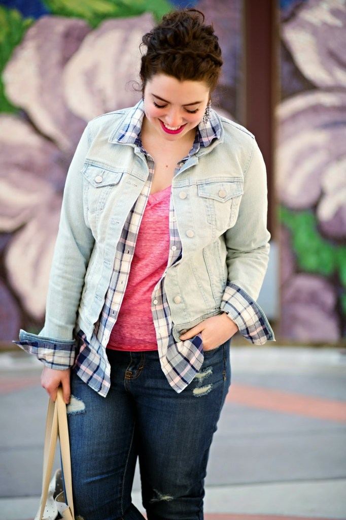 I love the idea of wearing denim on denim but always had a hard time understanding. She makes it super easy to master this look and be ready for spring in bright colors!