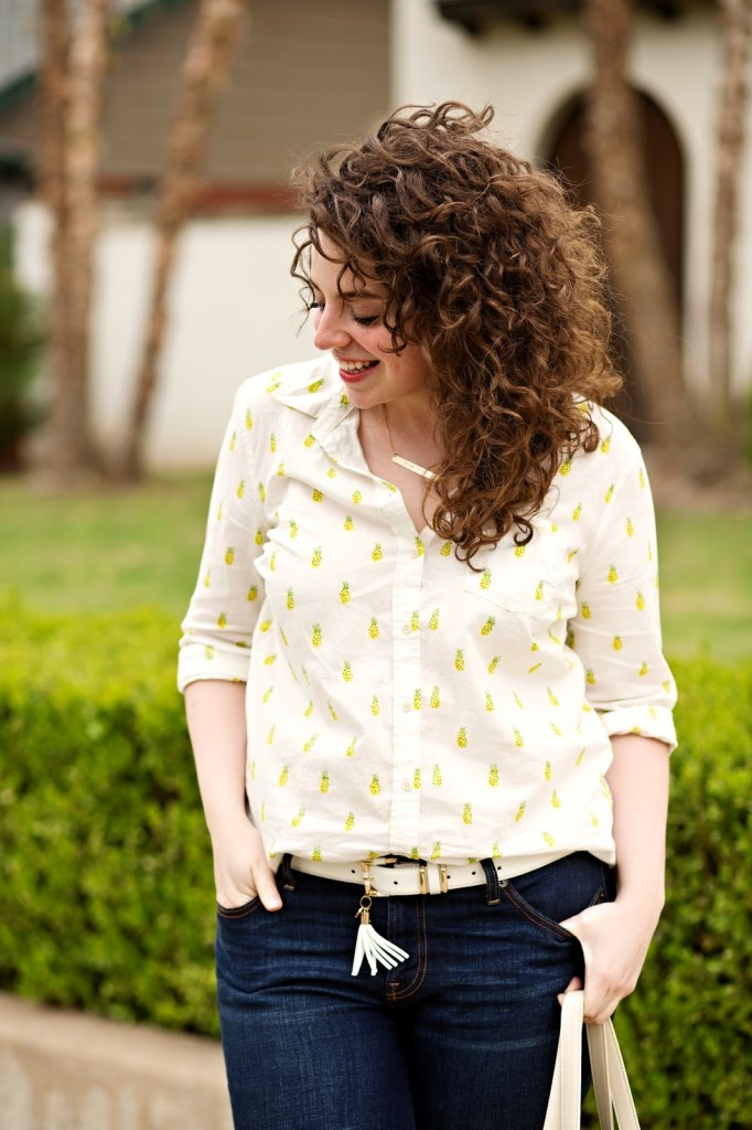 Pineapple Print Casual Outfit for Spring