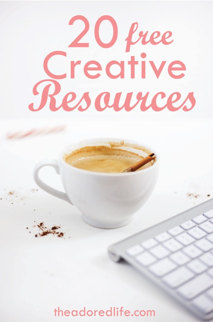 20 FREE resources for creatives! If you want to gain access to free photos, editing apps and more, you need to check out this post!