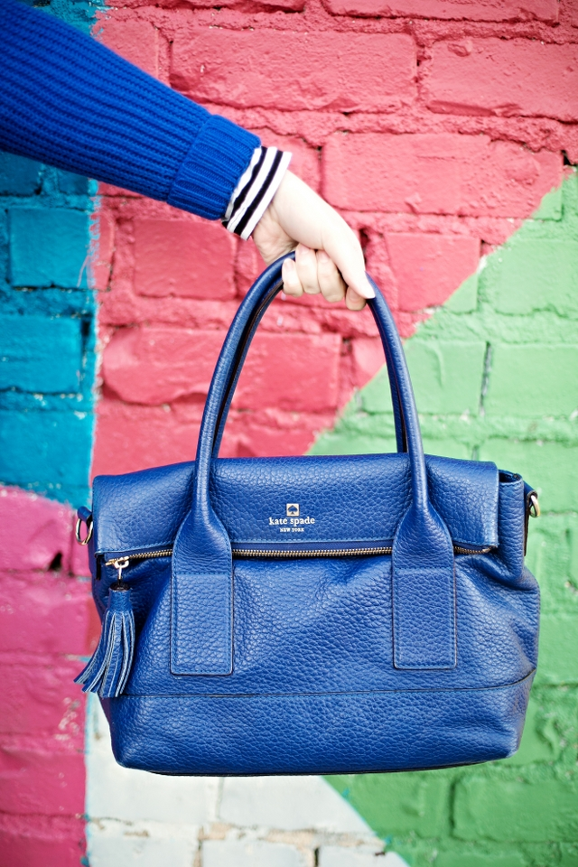 Kate Space Cobalt Bag