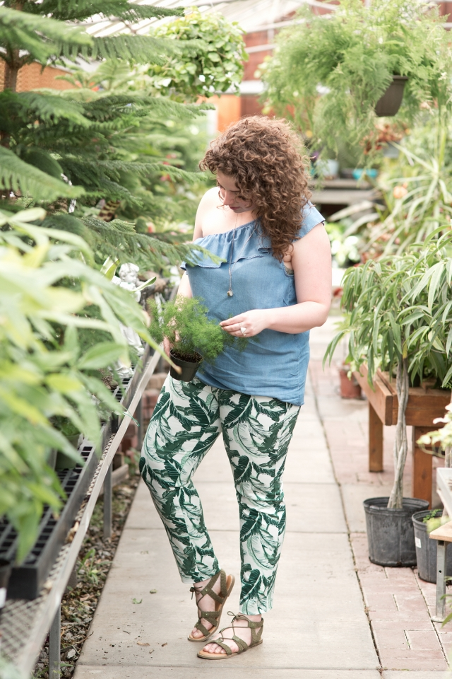 Printed Plant Pants Outfit Idea | theadoredlife.com