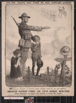 World War I poster advertising help for French war orphans