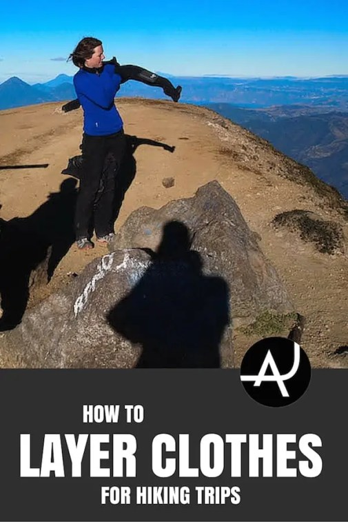 How to layer clothes while hiking