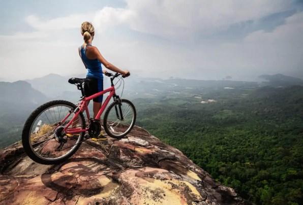 setting the height of mountain bike seat